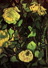 "Картина ""Roses and Beetle"" художника ""Ван Гог Винсент"""