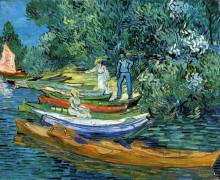 "Репродукция картины ""Rowing Boats on the Banks of the Oise"" художника ""Ван Гог Винсент"""
