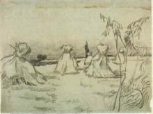 "Картина ""Sheaves of Wheat"" художника ""Ван Гог Винсент"""