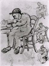 """Картина """"Sheet with People Sitting on Chairs"""" художника """"Ван Гог Винсент"""""""