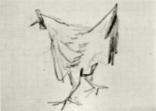 """Репродукция картины """"sketch of a hen"""" художника """"ван гог винсент"""""""