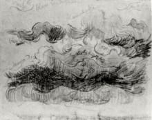 """Репродукция картины """"sketch of clouds with colour annotations"""" художника """"ван гог винсент"""""""
