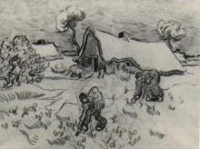 """Репродукция картины """"Sketch of Diggers and Other Figures"""" художника """"Ван Гог Винсент"""""""