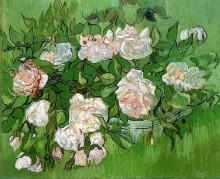 "Копия картины ""Still Life - Pink Roses"" художника ""Ван Гог Винсент"""