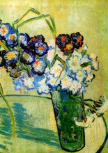 "Картина ""still life glass with carnations"" художника ""ван гог винсент"""