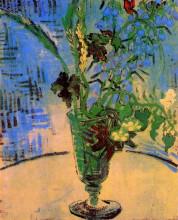 "Репродукция картины ""still life glass with wild flowers"" художника ""ван гог винсент"""