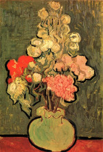 "Копия картины ""Still Life Vase with Rose-Mallows"" художника ""Ван Гог Винсент"""