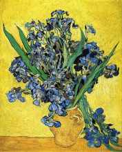 "Картина ""still life with irises"" художника ""ван гог винсент"""
