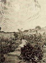 "Копия картины ""sun disk above a path between shrubs"" художника ""ван гог винсент"""