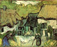 "Картина ""thatched cottages in jorgus"" художника ""ван гог винсент"""