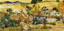 """Копия картины """"thatched houses against a hill"""" художника """"ван гог винсент"""""""