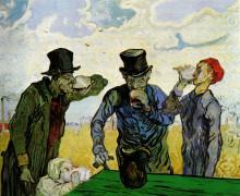 """Репродукция картины """"The Drinkers (after Daumier)"""" художника """"Ван Гог Винсент"""""""