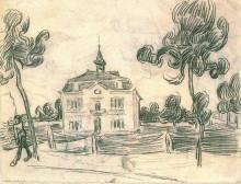 "Репродукция картины ""The Town Hall at Auvers"" художника ""Ван Гог Винсент"""