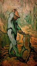 "Картина ""the woodcutter after millet"" художника ""ван гог винсент"""