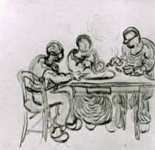 "Копия картины ""Three Peasants at a Meal"" художника ""Ван Гог Винсент"""
