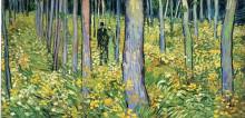 "Картина ""undergrowth with two figures"" художника ""ван гог винсент"""