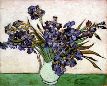 """Картина """"vase with irises"""" художника """"ван гог винсент"""""""