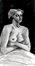 """Репродукция картины """"Nude Woman, Half-Length"""" художника """"Ван Гог Винсент"""""""