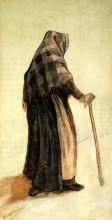 "Репродукция картины ""Old Woman with a Shawl and a Walking-Stick"" художника ""Ван Гог Винсент"""