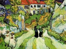 "Копия картины ""Village Street and Steps in Auvers with Figures"" художника ""Ван Гог Винсент"""