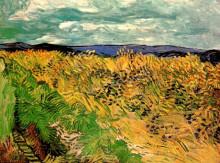 "Копия картины ""wheat field with cornflowers"" художника ""ван гог винсент"""