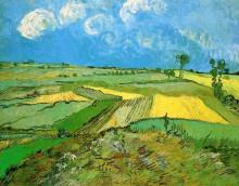"Репродукция картины ""wheat fields at auvers under clouded sky"" художника ""ван гог винсент"""