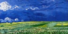 "Репродукция картины ""wheatfields under thunderclouds"" художника ""ван гог винсент"""