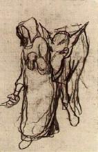 """Картина """"woman with a donkey"""" художника """"ван гог винсент"""""""