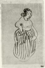 "Репродукция картины ""woman with striped skirt"" художника ""ван гог винсент"""