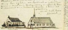 "Репродукция картины ""Churches at Petersham and Turnham Green"" художника ""Ван Гог Винсент"""