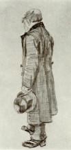 "Копия картины ""orphan man holding top hat in his hand"" художника ""ван гог винсент"""