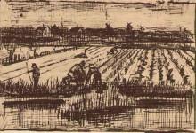 """Репродукция картины """"Potato Field"""" художника """"Ван Гог Винсент"""""""