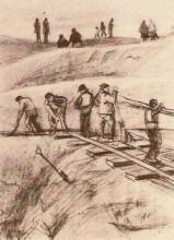 """Репродукция картины """"sand diggers"""" художника """"ван гог винсент"""""""