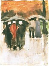"Копия картины ""scheveningen women and other people under umbrellas"" художника ""ван гог винсент"""