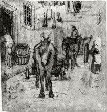"""Копия картины """"Studies of Donkey Carts"""" художника """"Ван Гог Винсент"""""""
