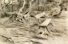 "Копия картины ""the bench"" художника ""ван гог винсент"""