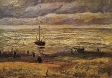 """Репродукция картины """"view of the sea at scheveningen"""" художника """"ван гог винсент"""""""