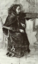 "Копия картины ""woman in a dark dress (sien's mother)"" художника ""ван гог винсент"""