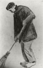 """Копия картины """"Young Man with a Broom"""" художника """"Ван Гог Винсент"""""""