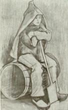 """Картина """"boy with spade"""" художника """"ван гог винсент"""""""