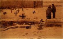 "Картина ""Churchyard in Winter"" художника ""Ван Гог Винсент"""