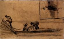 """Копия картины """"figures in a winter landscape"""" художника """"ван гог винсент"""""""