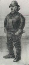 "Копия картины ""Fisherman in Jacket with Upturned Collar"" художника ""Ван Гог Винсент"""