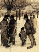 "Копия картины ""Five Men and a Child in the Snow"" художника ""Ван Гог Винсент"""
