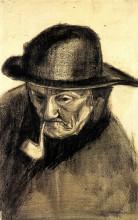 """Картина """"head of a fisherman with a sou'wester"""" художника """"ван гог винсент"""""""