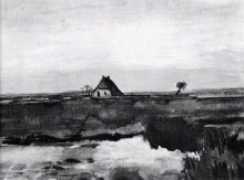 "Копия картины ""landscape with a farm"" художника ""ван гог винсент"""
