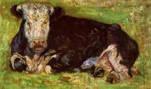"Картина ""lying cow"" художника ""ван гог винсент"""