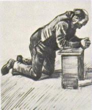"""Картина """"Man Praying"""" художника """"Ван Гог Винсент"""""""