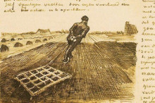 """Репродукция картины """"man pulling a harrow"""" художника """"ван гог винсент"""""""