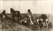 "Копия картины ""ploughman and three women"" художника ""ван гог винсент"""